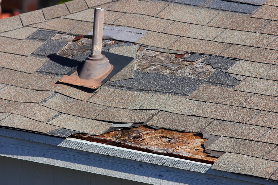 Roof Damage detected during Home Inspection
